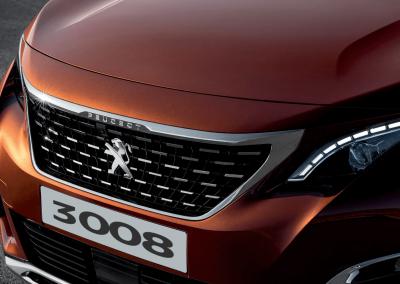 Kühlergrill des Peugeot 3008