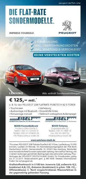 Die Flat Rate Modelle von Peugeot