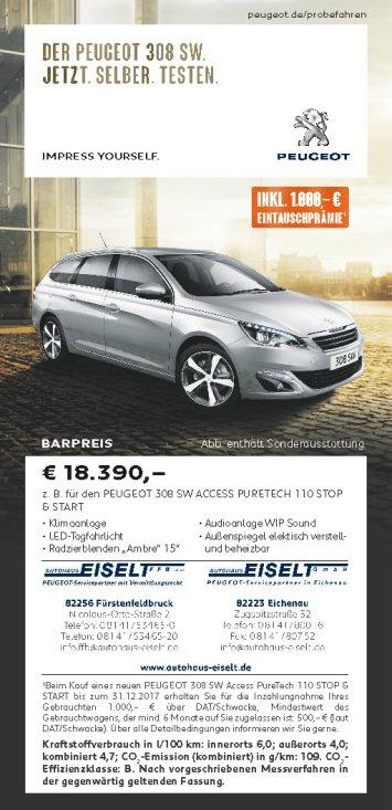 der neue Peugeot 308 SW Facelift