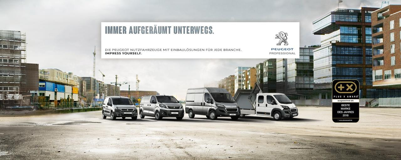 Nutzfahrzeug Palette von Peugeot, Partner, Expert, Boxer
