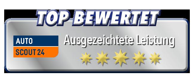 Top Bewertungen bei Autoscout 24 für unser Autohaus