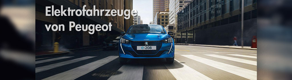 Elektrofahrzeuge von Peugeot